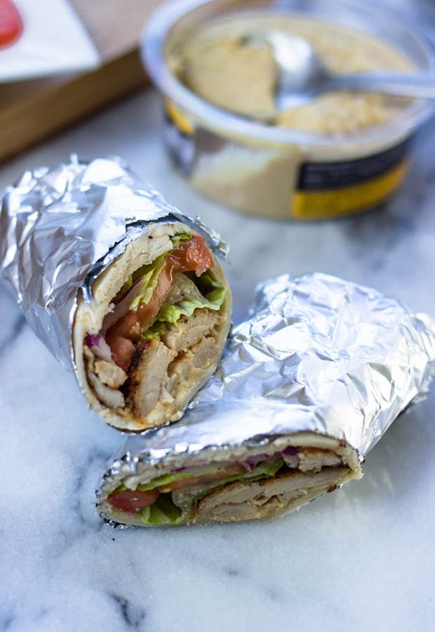 High Protein Low Carb Recipes: Chicken and Hummus Wrap