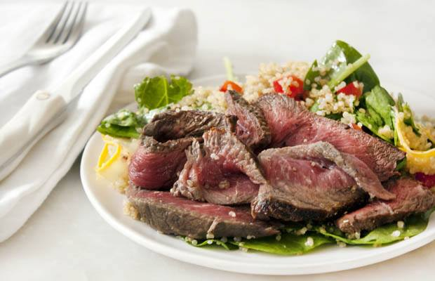 High Protein Low Carb Recipes: Steak Salad