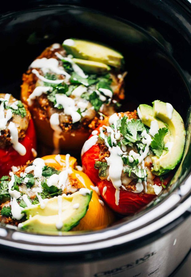 High Protein Low Carb Recipes: Quinoa and Black Bean Stuffed Peppers