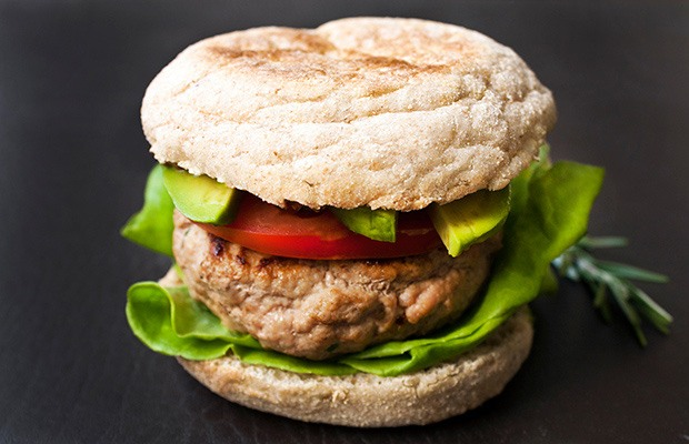 High Protein Low Carb Recipes: Healthy Turkey Burger
