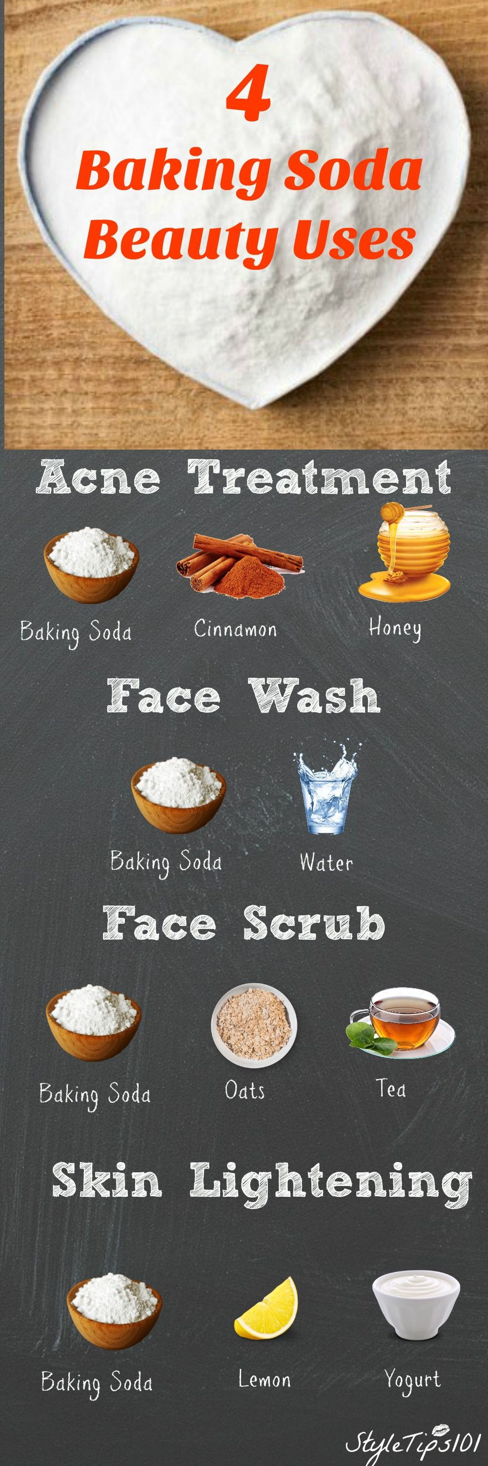 4 Amazing Baking Soda Beauty Uses You Need To Know About Infographic