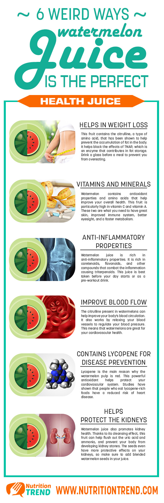 Watermelon Juice: Health Benefits Of Summer's Best Treat Infographic