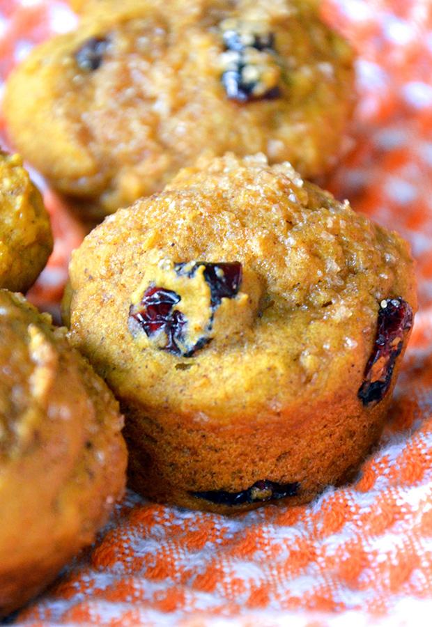 Mini Cranberry Pumpkin Muffins