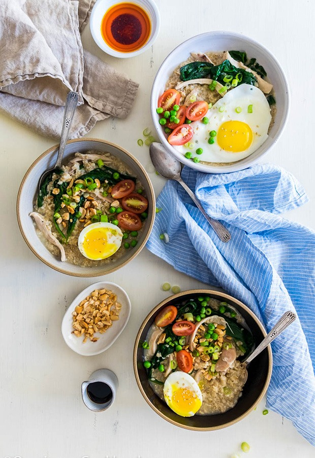 Savory Oatmeal Recipes: Oatmeal with Chicken and Spinach Recipe