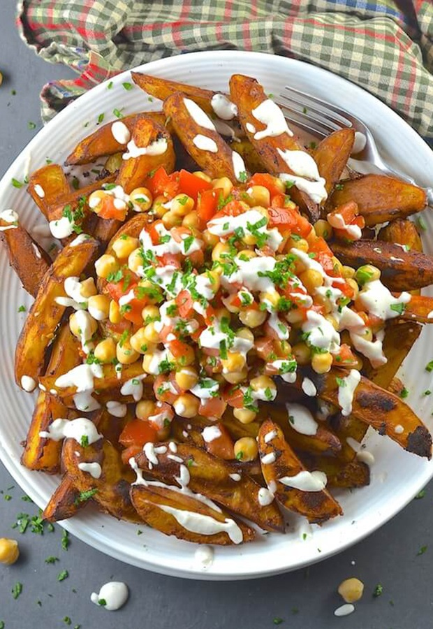 Healthy Finger Foods: Taco Fries with Lime Crema Recipe